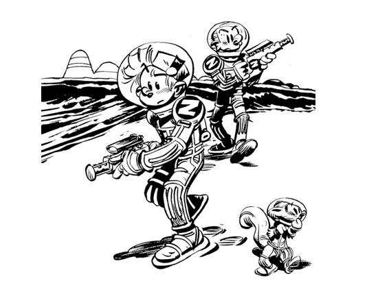 Coloriage et dessins gratuits Spirou 14 à imprimer