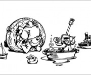 Coloriage et dessins gratuit Spirou 20 à imprimer