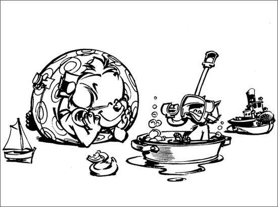Coloriage et dessins gratuits Spirou 20 à imprimer