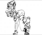 Coloriage et dessins gratuit Spirou 21 à imprimer