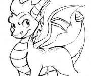 Coloriage et dessins gratuit Spyro 1 à imprimer