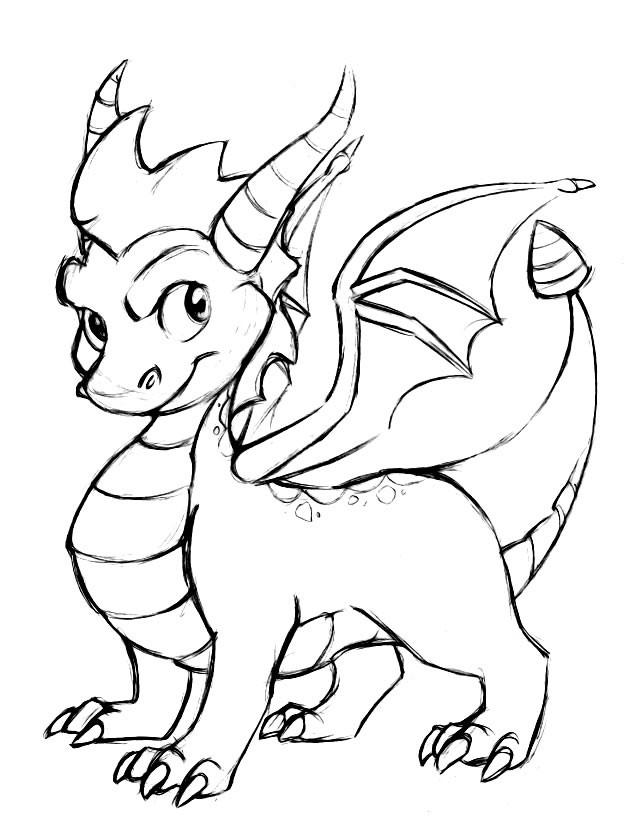 Coloriage et dessins gratuits Spyro 1 à imprimer