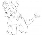 Coloriage et dessins gratuit Spyro 10 à imprimer