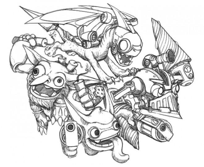 Coloriage et dessins gratuits Spyro 12 à imprimer