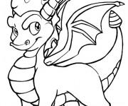 Coloriage et dessins gratuit Spyro 13 à imprimer