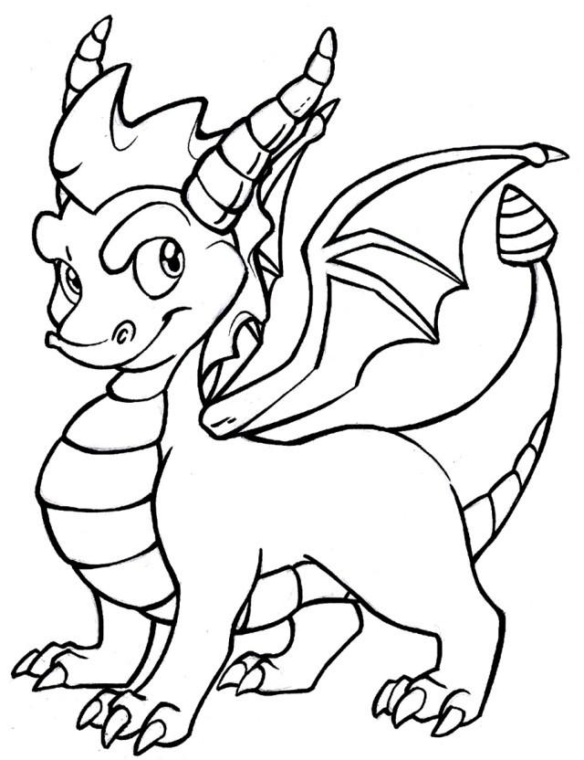 Coloriage Spyro 13 dessin gratuit