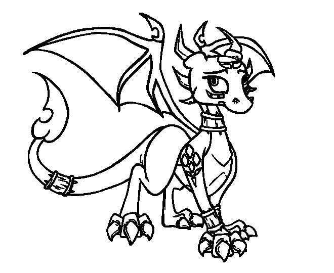 Coloriage et dessins gratuits Spyro 14 à imprimer
