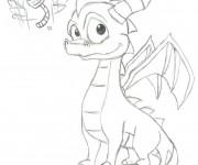 Coloriage et dessins gratuit Spyro 15 à imprimer