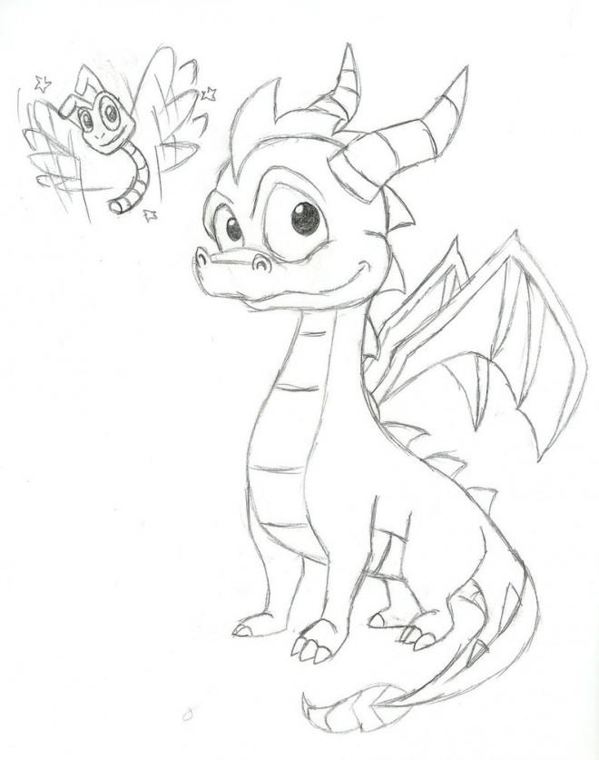 Coloriage et dessins gratuits Spyro 15 à imprimer