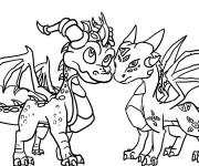Coloriage et dessins gratuit Spyro 16 à imprimer