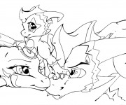 Coloriage et dessins gratuit Spyro 4 à imprimer