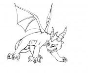 Coloriage et dessins gratuit Spyro 9 à imprimer