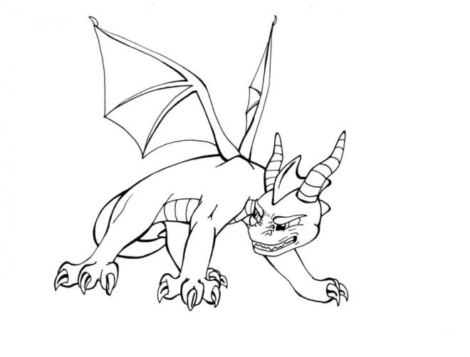 Coloriage et dessins gratuits Spyro 9 à imprimer
