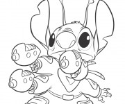 Coloriage et dessins gratuit Dessin de Stitch en couleur à imprimer