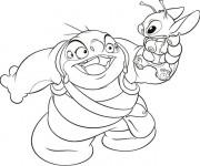 Coloriage dessin  Jumba Jookiba et Stitch en français