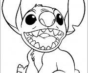 Coloriage et dessins gratuit Stitch 1 à imprimer
