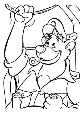 Coloriage et dessins gratuits Baloo avion à imprimer