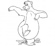 Coloriage Super baloo danse