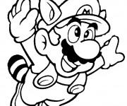 Coloriage Dessin Mario Bros en volant