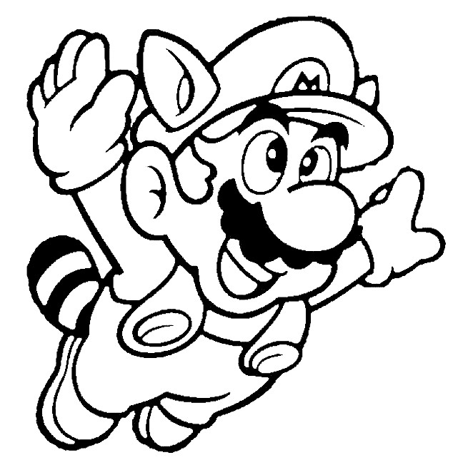 Coloriage et dessins gratuits Dessin Mario Bros en volant à imprimer
