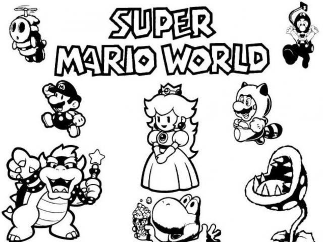 Coloriage Le monde de Super Mario Bros dessin gratuit