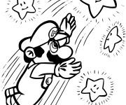 Coloriage Mario attrape les étoiles