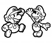 Coloriage Mario bros pour enfant