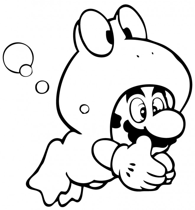 Coloriage Mario déguisement dessin gratuit à imprimer