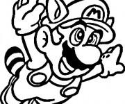 Coloriage Mario heureux