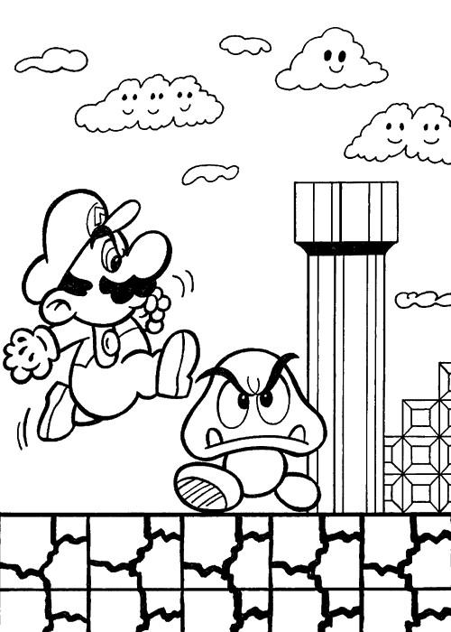 Coloriage A Imprimer Personnage Dessin Anime.Coloriage Mario Personnage Champignon Dessin Gratuit A Imprimer