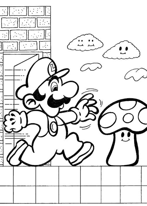Coloriage et dessins gratuits Personnage Mario champignon à imprimer