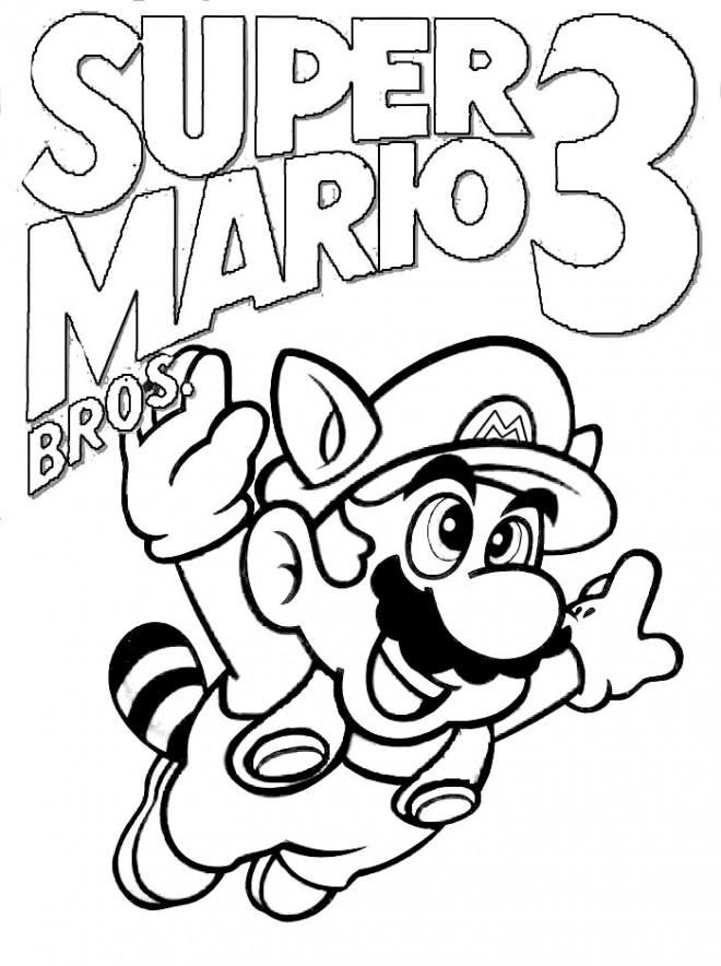 Coloriage Super Mario A Colorier Dessin Gratuit A Imprimer