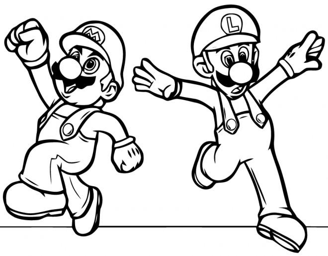 Coloriage Super Mario Bros Luigi Dessin Gratuit A Imprimer