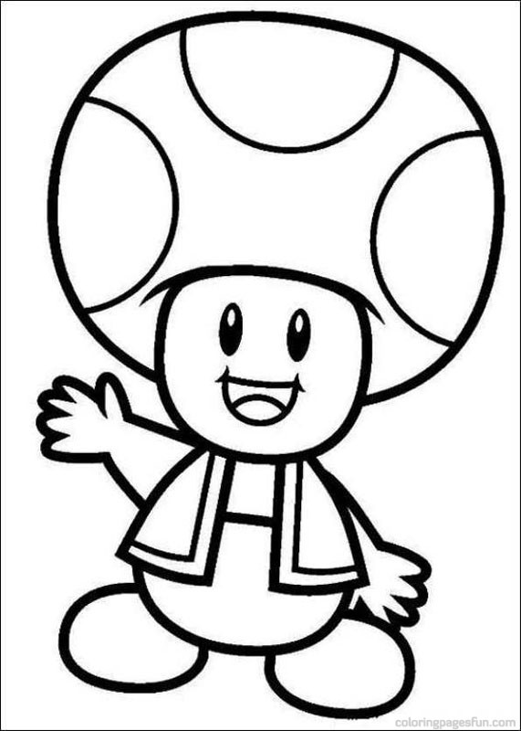 Coloriage Toad Mario Dessin Dessin Gratuit A Imprimer