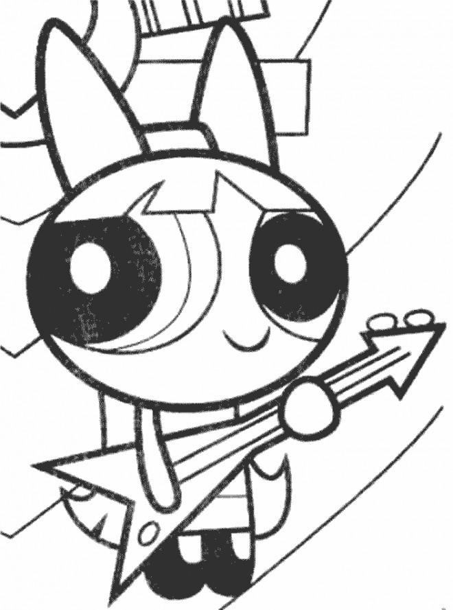 Coloriage et dessins gratuits Super Nana Belle joue de la guitare à imprimer