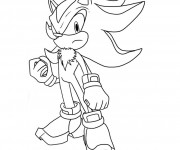 Coloriage Super Sonic
