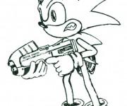 Coloriage dessin  Sonic 40