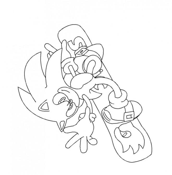 Coloriage et dessins gratuits Sonic à colorier à imprimer