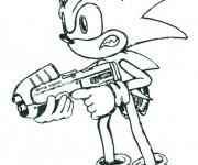 Coloriage Sonic boom en ligne