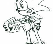 Coloriage Sonic boom prêt au combat