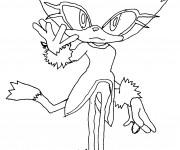 Coloriage et dessins gratuit Sonic facile à imprimer