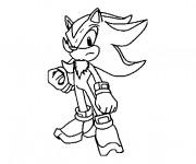 Coloriage Sonic gratuit