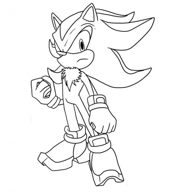 Coloriage sonic shadow dessin gratuit imprimer - Sonic et shadow ...
