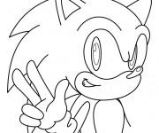 Coloriage et dessins gratuit Sonic simple à imprimer