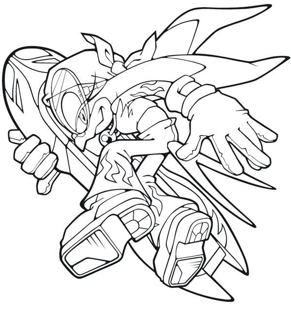 Coloriage et dessins gratuits Sonic X à imprimer