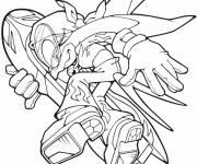 Coloriage Sonic X se sauve