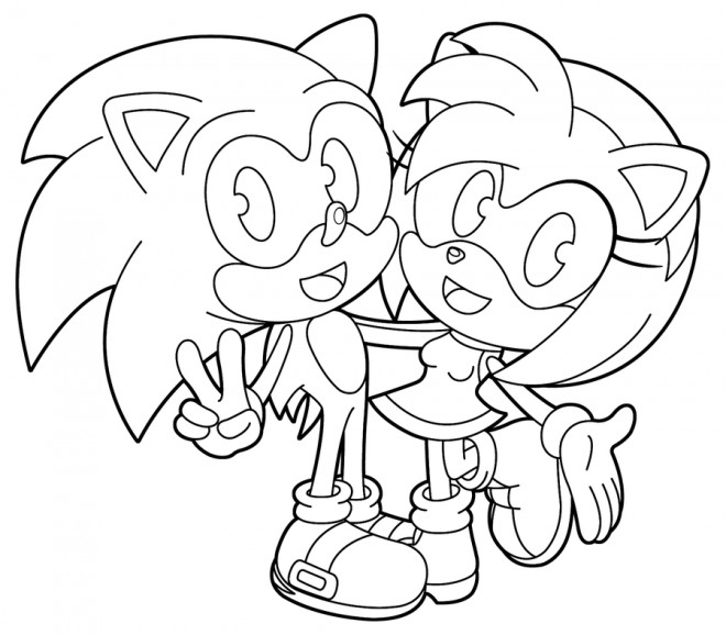 Coloriage et dessins gratuits Super Sonic 10 à imprimer