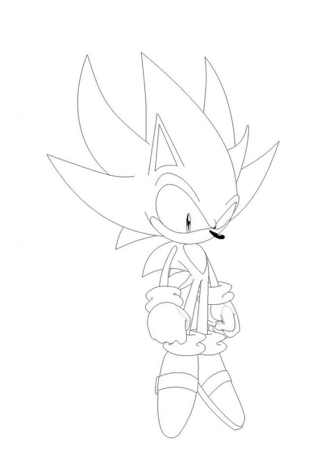 Coloriage et dessins gratuits Super Sonic 14 à imprimer