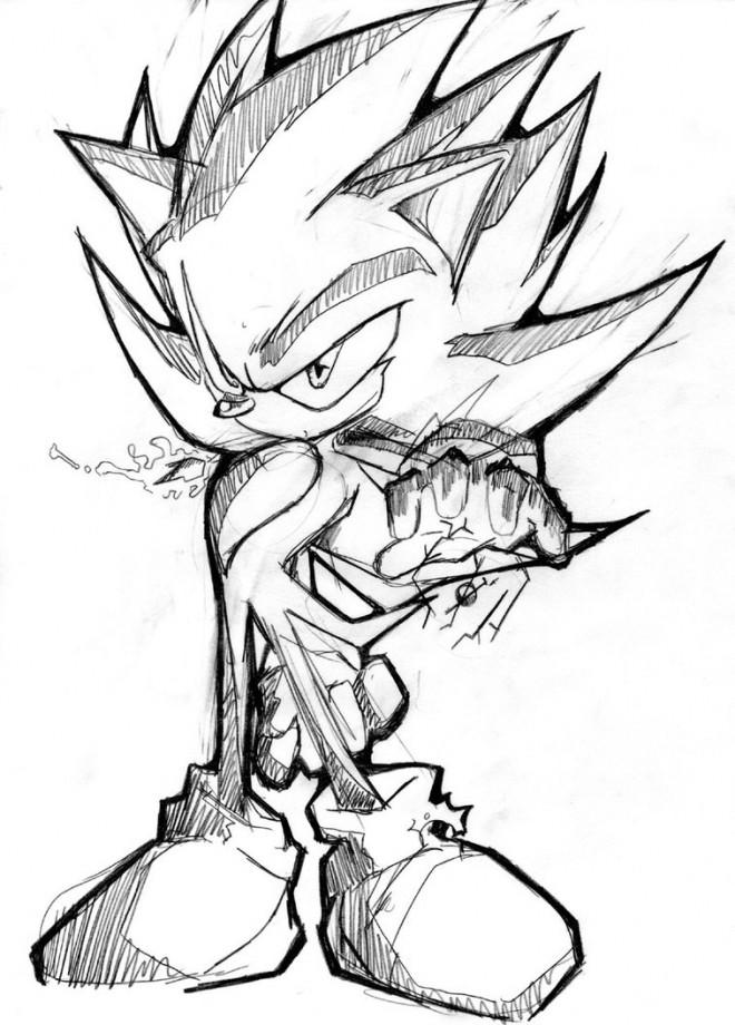 Coloriage super sonic 16 dessin gratuit imprimer - Dessin anime sonic ...