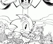 Coloriage Super Sonic 34